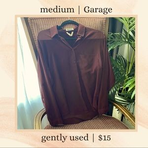 Medium Garage Burgundy Chiffon